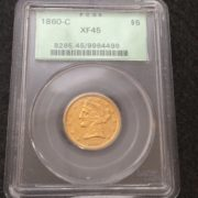 1860 C Gold Coin