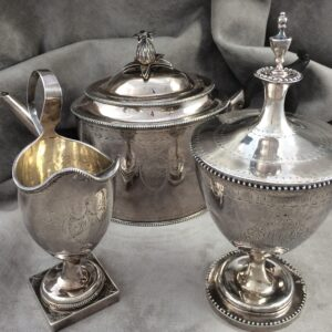 Antique 3 Piece Tea Set by Ephraim Brasher