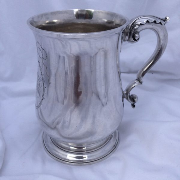 American Silver Cann By John Burger, New York, NY Circa 1790