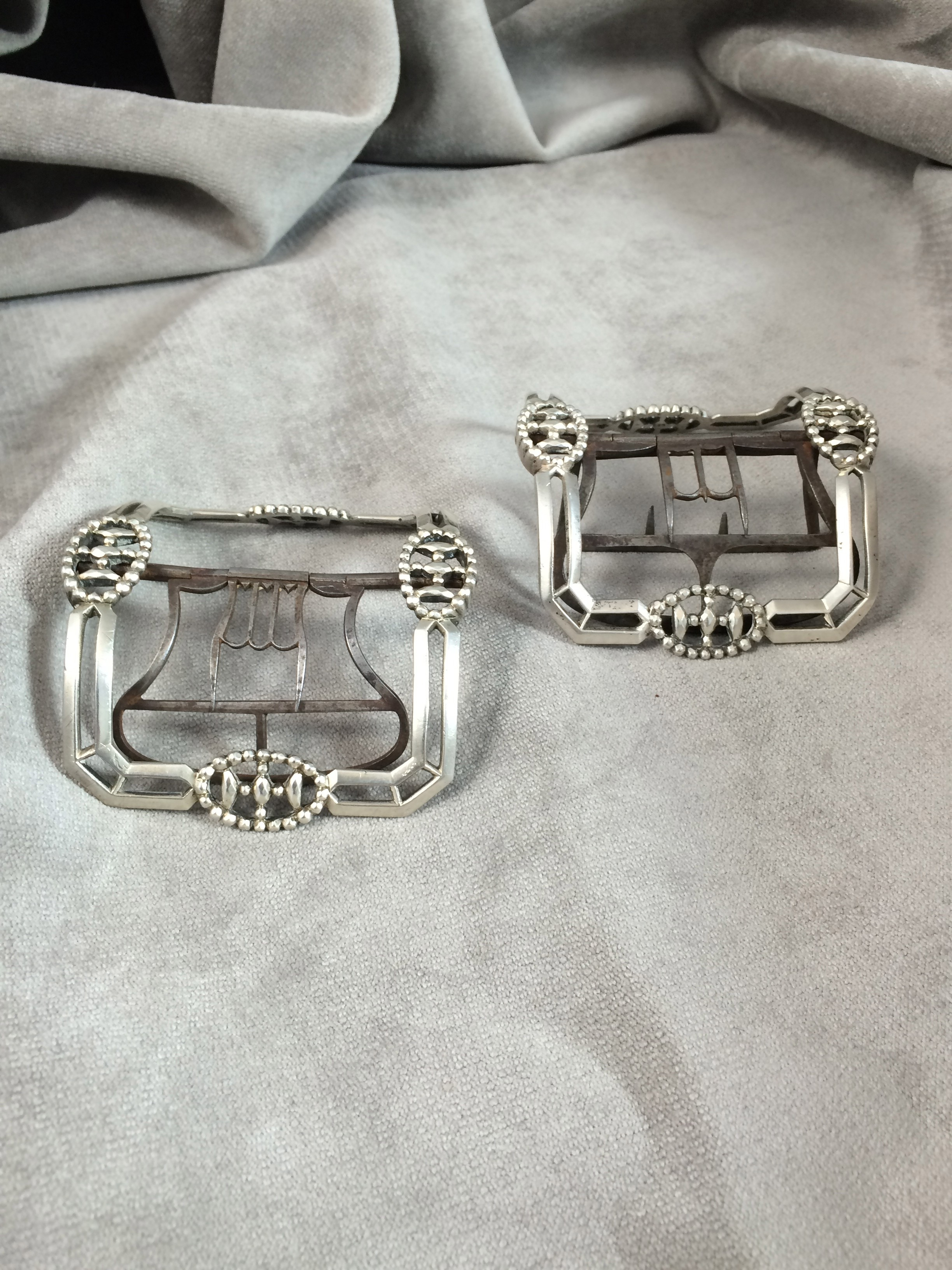 Pair of Silver Shoe Buckles by Standish Barry